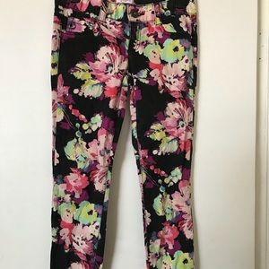 Candies stretch skinny  jeans flower pattern